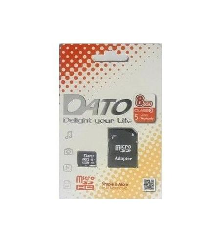 Carte Mémoire Micro SD DatoTek 8 Go - Class 10